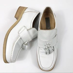 🇬🇧 Jigsaw | UK Brand White Leather Loafer.